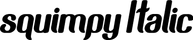 Preview image for squimpy Italic Font