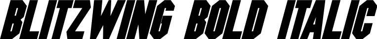 Preview image for Blitzwing Bold Italic