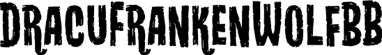 Preview image for DracuFrankenWolfBB Font
