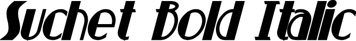 Preview image for Suchet Bold Italic
