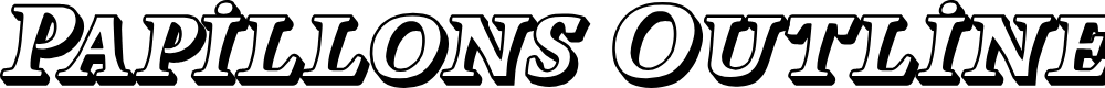 Preview image for Papillons Outline Italic
