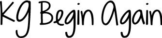 Preview image for KG Begin Again Font