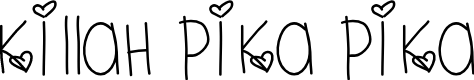 Preview image for KillahPikaPika Font