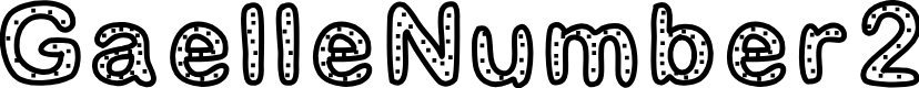 Preview image for GaelleNumber2 Font