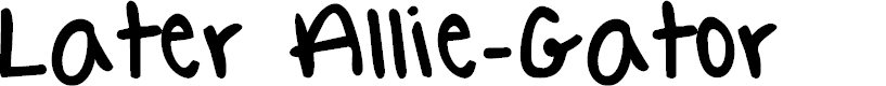 Preview image for Later Allie-Gator Font