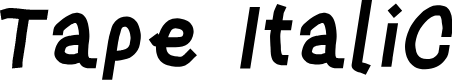 Preview image for Tape Italic