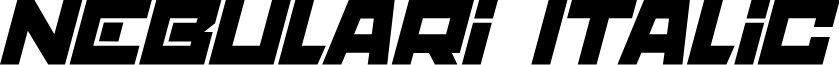 nebulari Italic