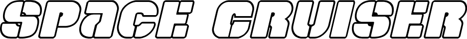 Preview image for Space Cruiser Outline Italic