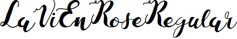 Preview image for LaViEnRose-Regular Font