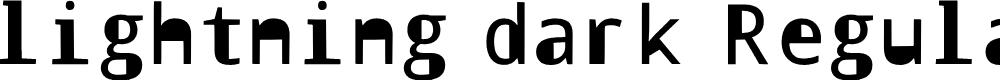 Preview image for lightning dark Regular Font