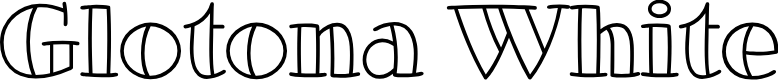 Preview image for GlotonaWhite Font