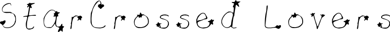 Star-Crossed Lovers Light font