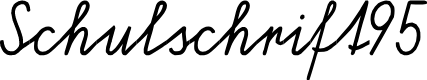 Preview image for Schulschrift95  Normal Font
