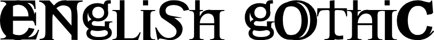 Preview image for Englishgothic Font