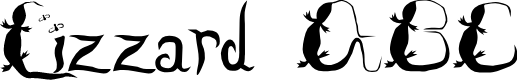 Preview image for Lizzard Font