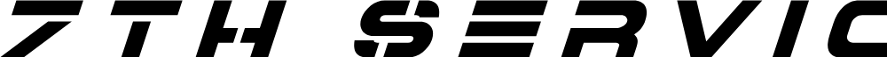 7th Service Title Italic