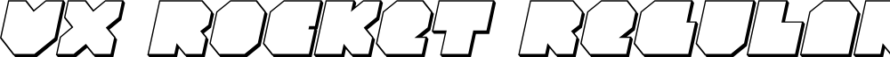 VX Rocket 3D Italic