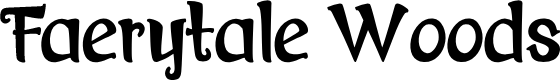 Preview image for Faerytale Woods Font