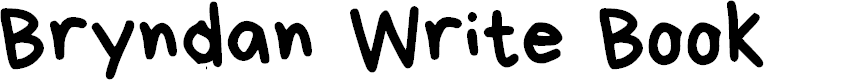 Preview image for Bryndan Write Book Font