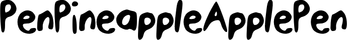 Preview image for PenPineappleApplePen Font