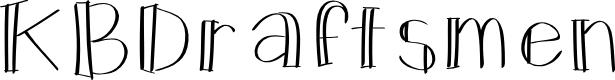 Preview image for KBDraftsmen Font