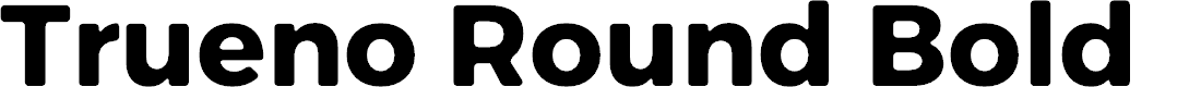 Preview image for Trueno Round Bold