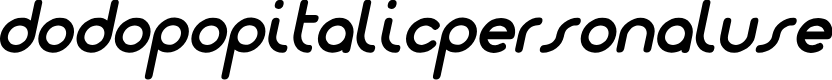 Preview image for Dodopop-ItalicPersonalUse Font