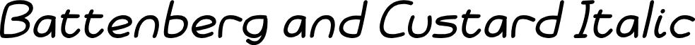 Battenberg and Custard Italic