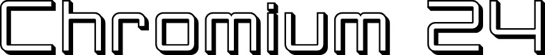 Preview image for SF Chromium 24 Font