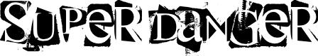 Preview image for super danger Font