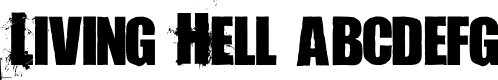 Preview image for Living Hell Font