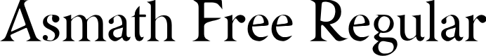 Preview image for Asmath Free Regular Font