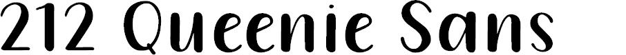 Preview image for 212 Queenie Sans Font