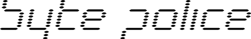 Preview image for Byte Police Expanded Italic