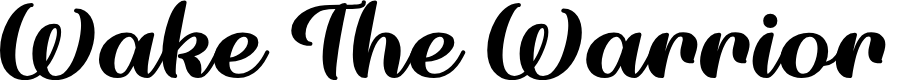 Preview image for Wake The Warrior Regular Font