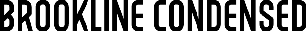 BROOKLINE-Condensed font