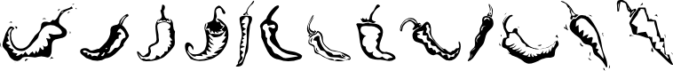 Preview image for Chili Pepper Dingbats Font