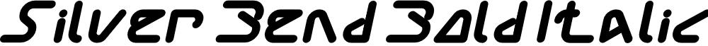 Silver Bend Bold Italic