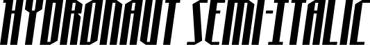Hydronaut Semi-Italic