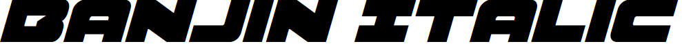 Banjin Italic