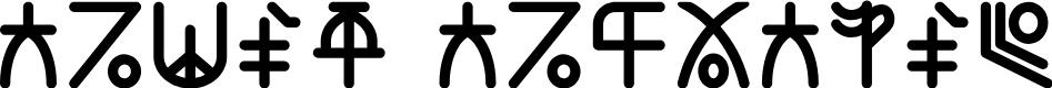 Preview image for Alien Alphabet Font