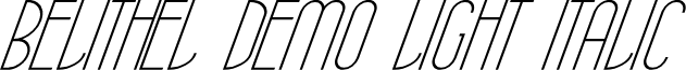 Belithel Demo Light Italic