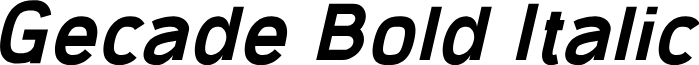 Gecade Bold Italic