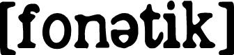 Preview image for phonétique Font