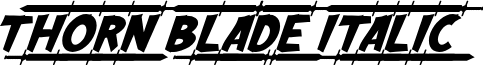 Thorn Blade Italic