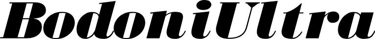 Preview image for BodoniUltraFLF-Italic