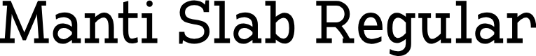 Preview image for Manti Slab Demo Font