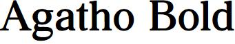 Agatho Bold