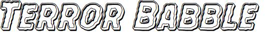 Terror Babble Engraved Italic