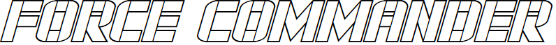 Force Commander Outline Italic